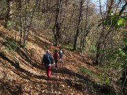 Scendendo nel bosco verso Pont