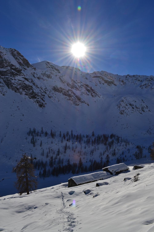 discesa verso l'Alpe Nannaz Superiore