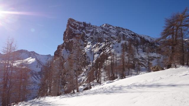 Barmasse (Bec) e Mont Ros da Mont Blanc 2013-12-07