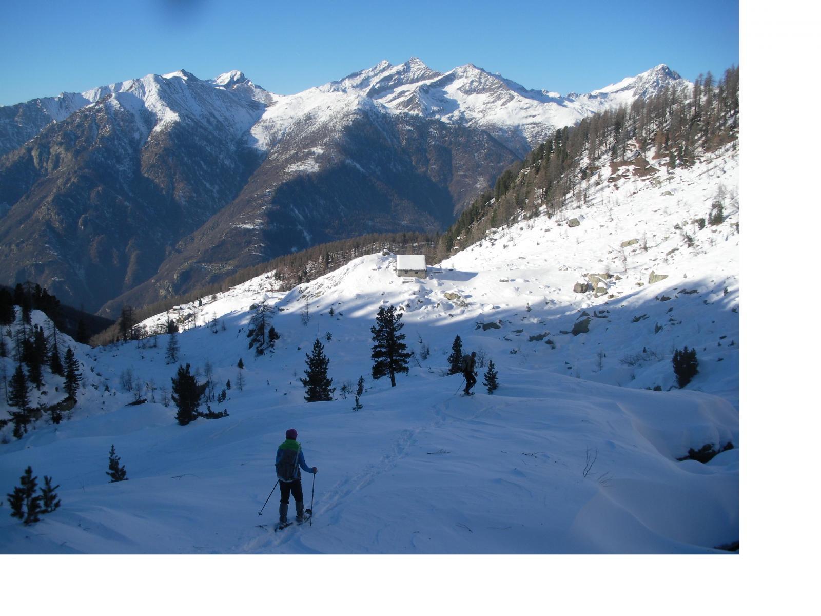 Ale..scende in direzione dell'alpe Serrafredda..