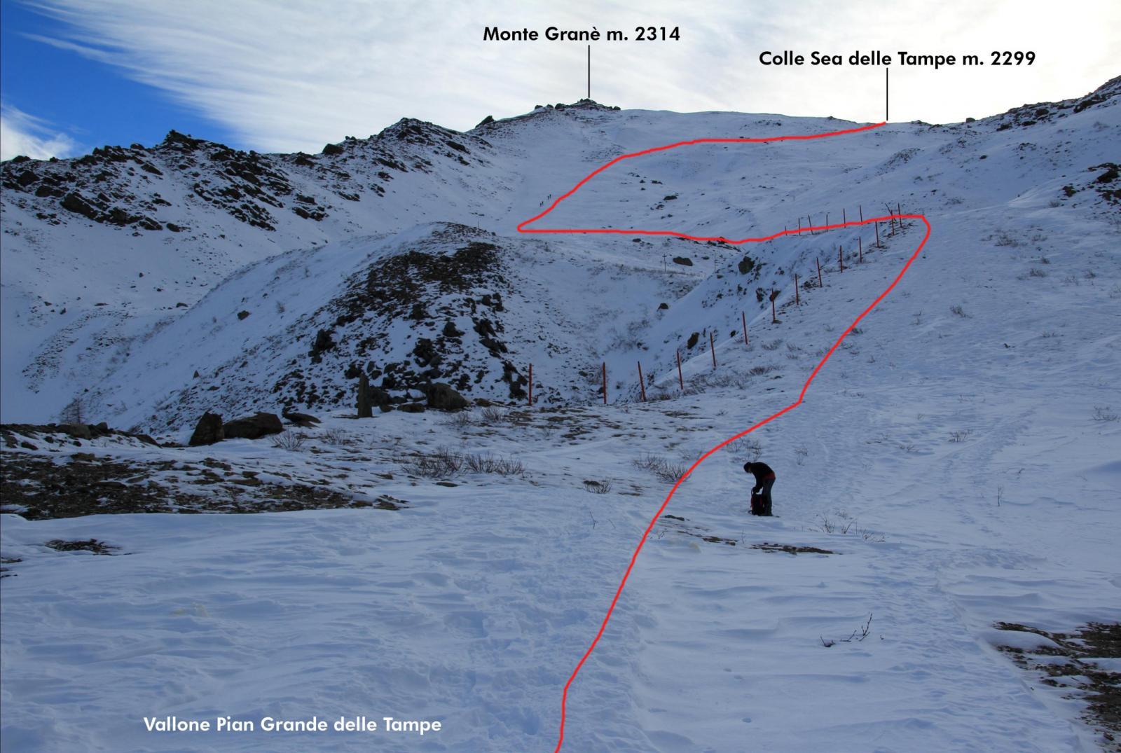 parte alta del vallone seguito per arrivare al colle (7-12-2013)