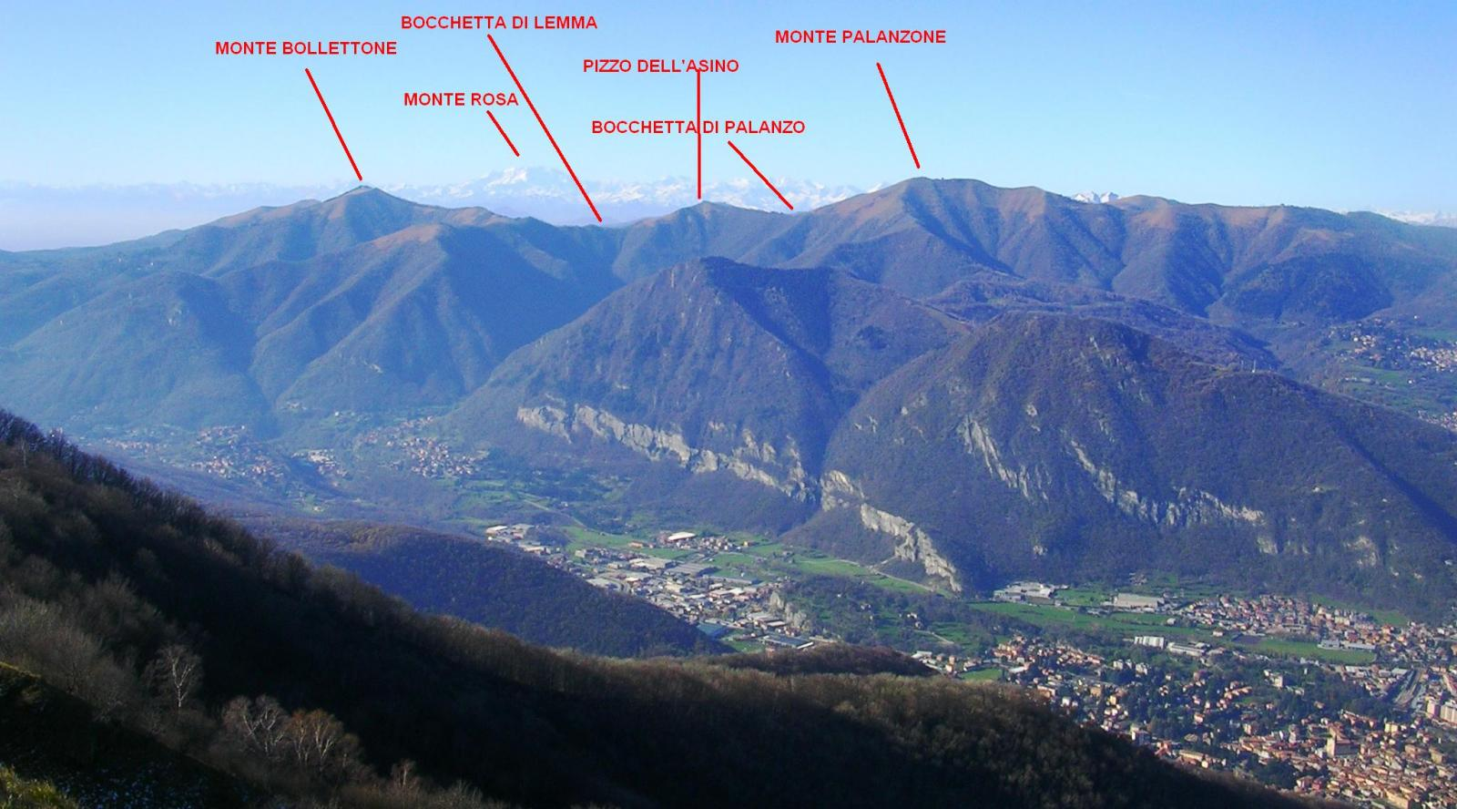 La Dorsale del Triangolo Lariano vista dal Monte Cornizzolo