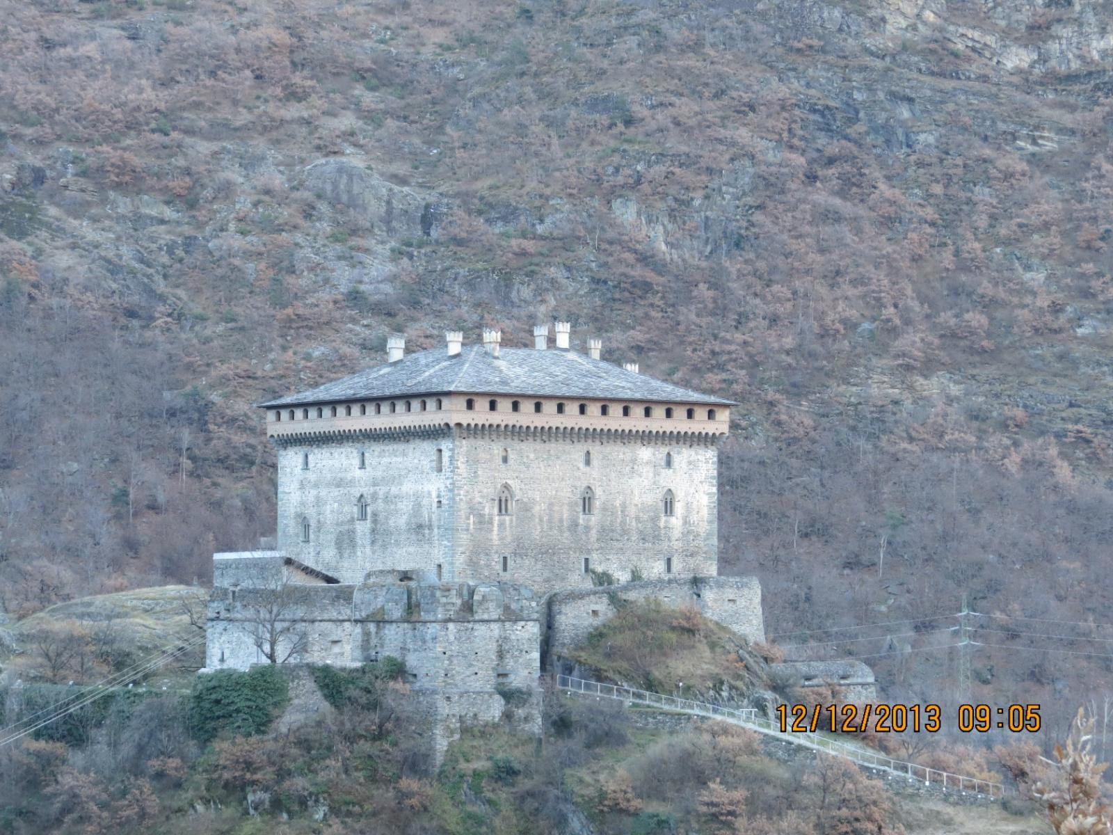 Zoom sul Castello di Verres