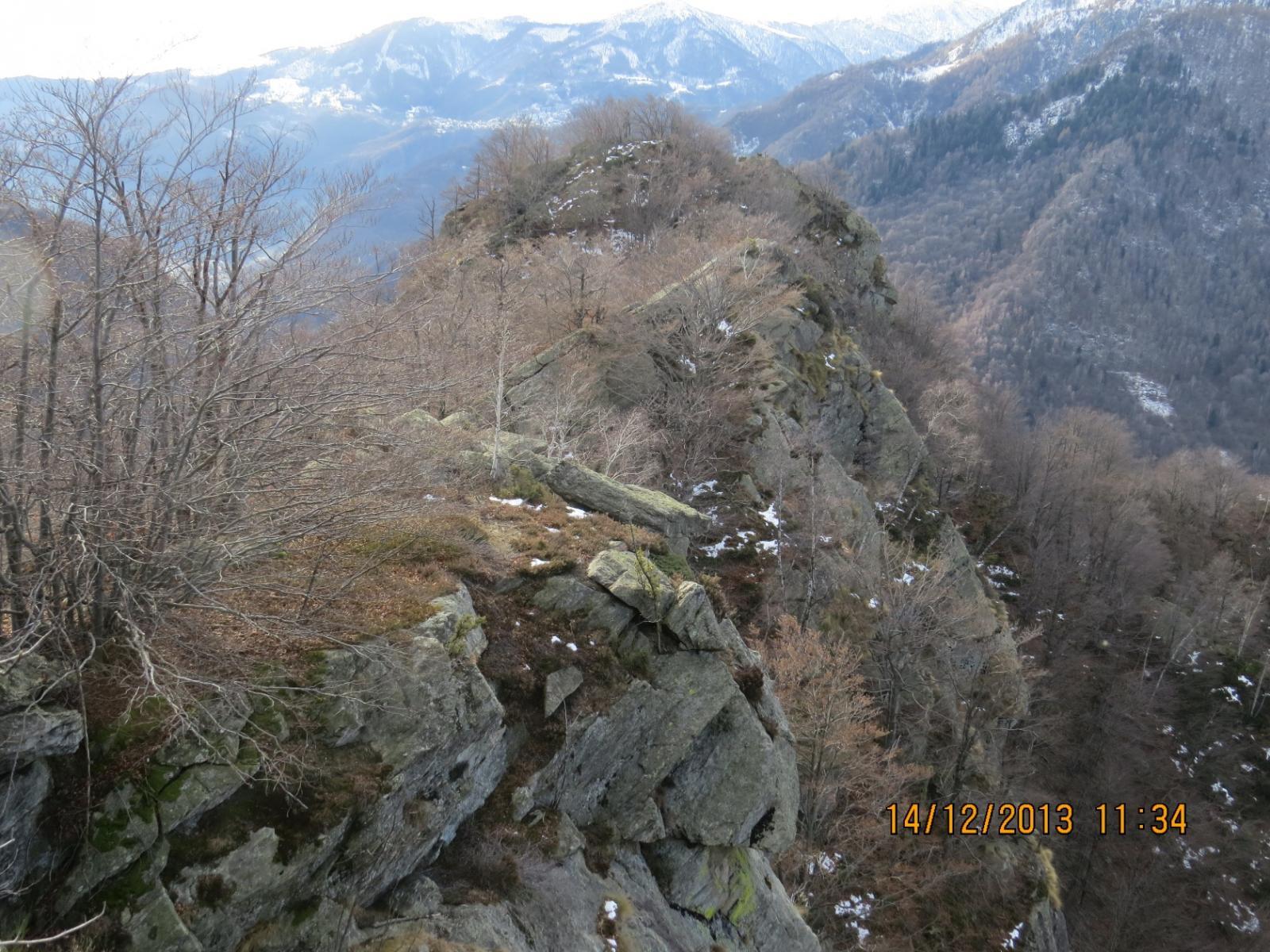 Percorso di cresta per raggiungere il Monte Betassa