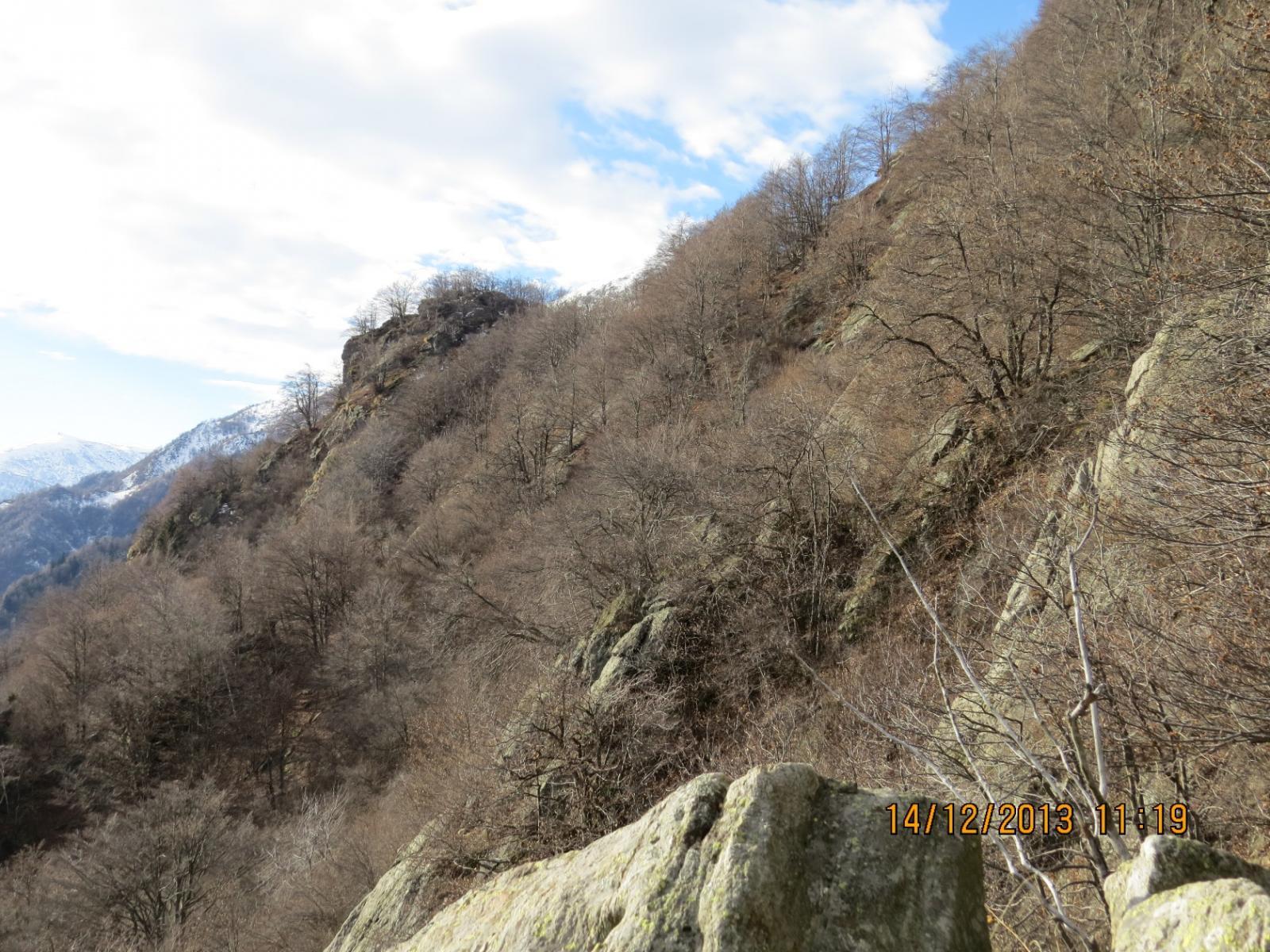 La propaggine estesa verso il centro valle, del Monte Betassa