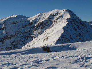Il Frioland e la bella cresta di salita dal Briccas