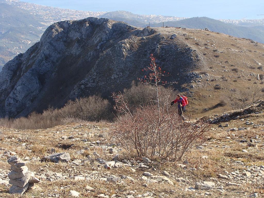 Carmo del Finale (Monte) o di Loano dal Giogo di Toirano, anello per San Pietro in Varatella 2013-12-15