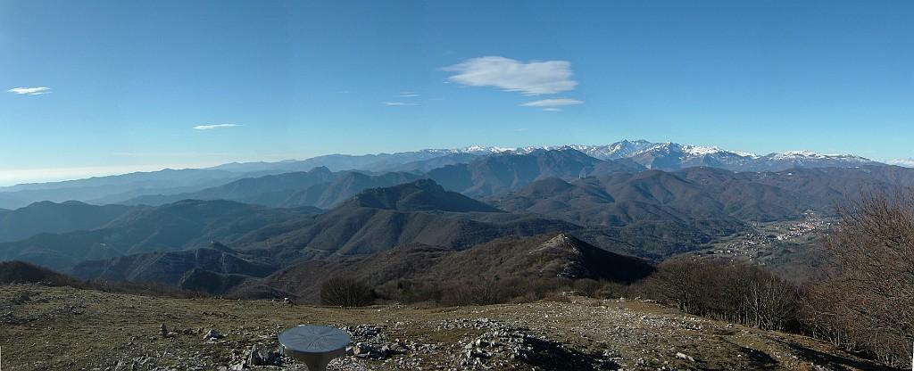 panorama verso i monti