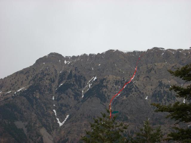 Saccarello (Monte) Parete ovest, canale centrale 2013-12-15
