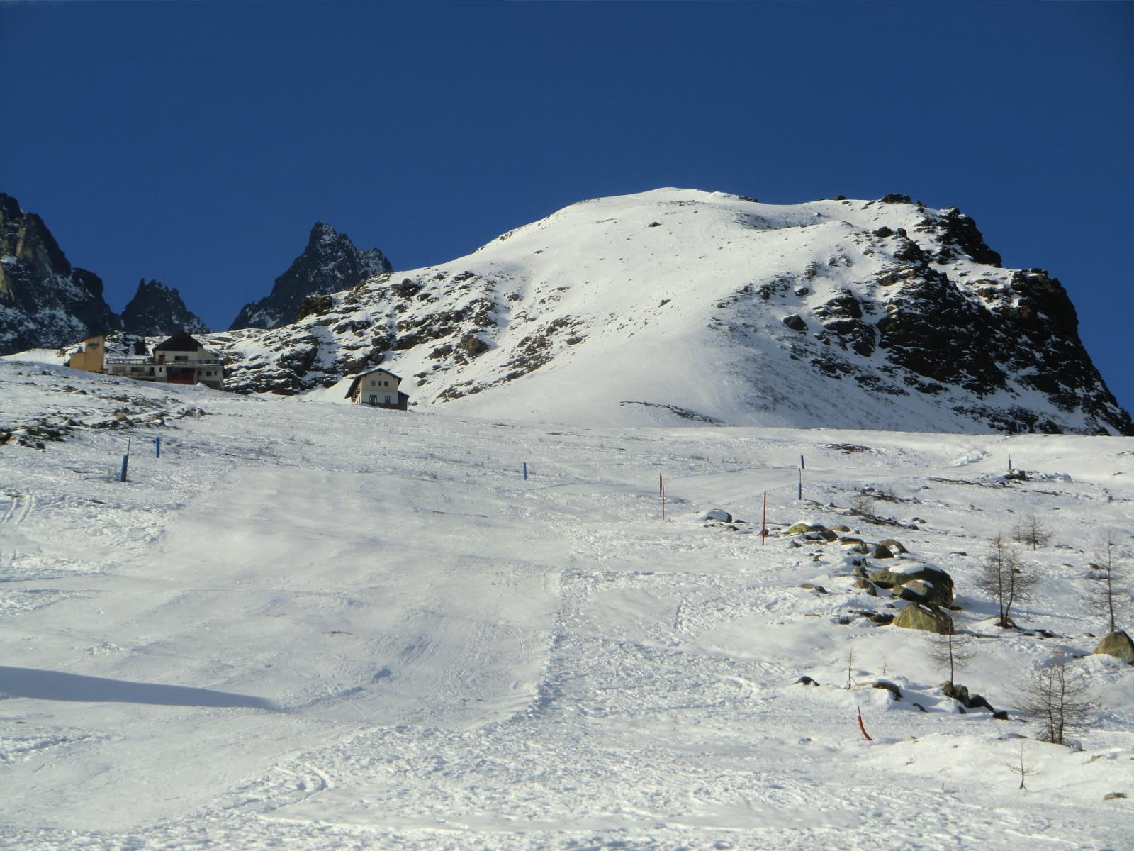 Monte Granè, pendii superiori