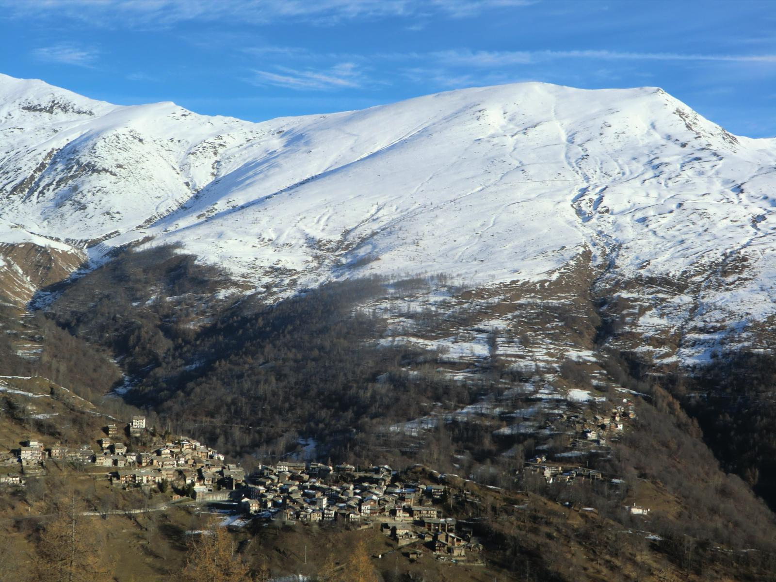 Monte Granè, veduta verso il Briccàs