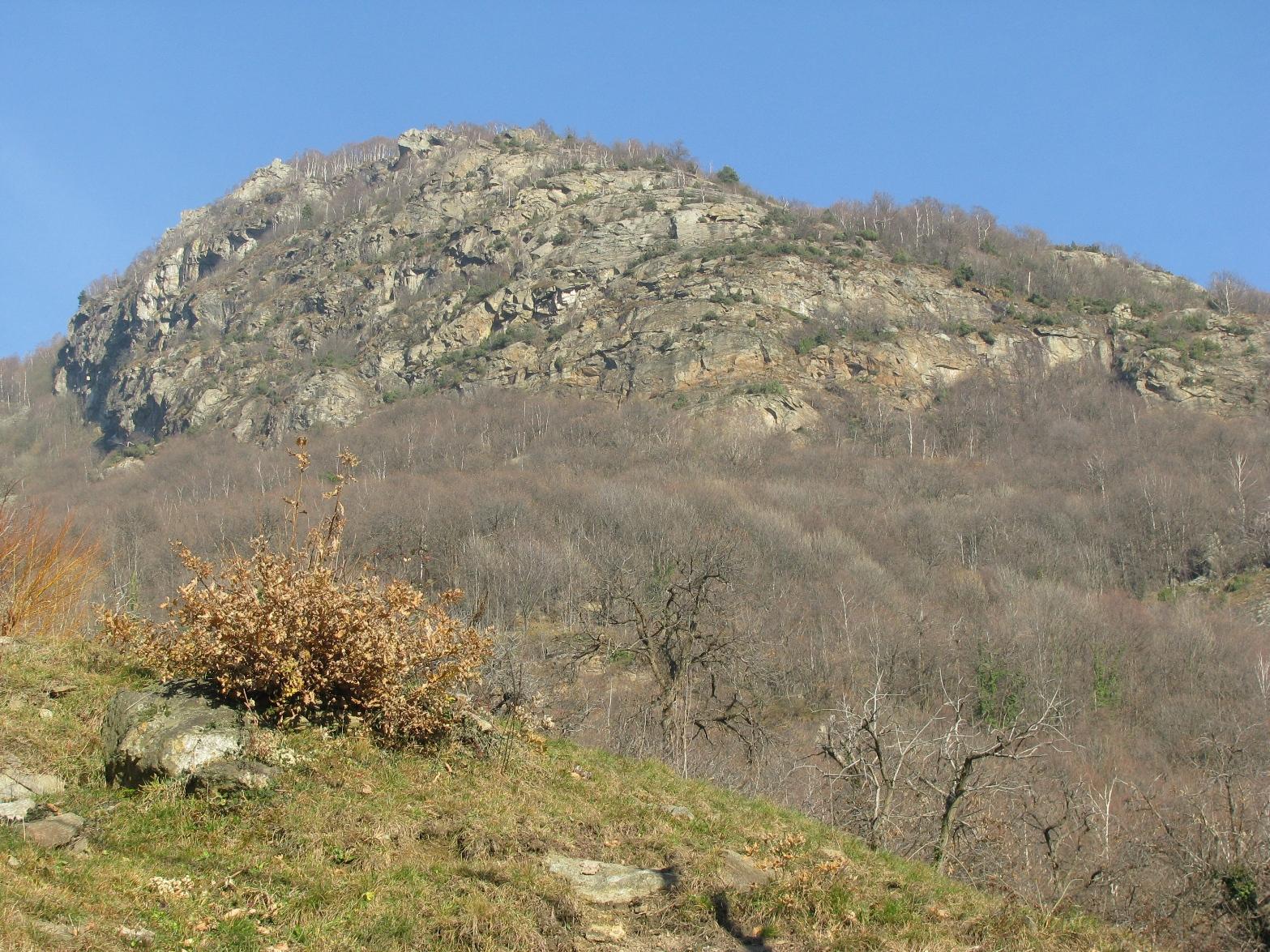 Il versante sud-ovest del Monte delle Cassie