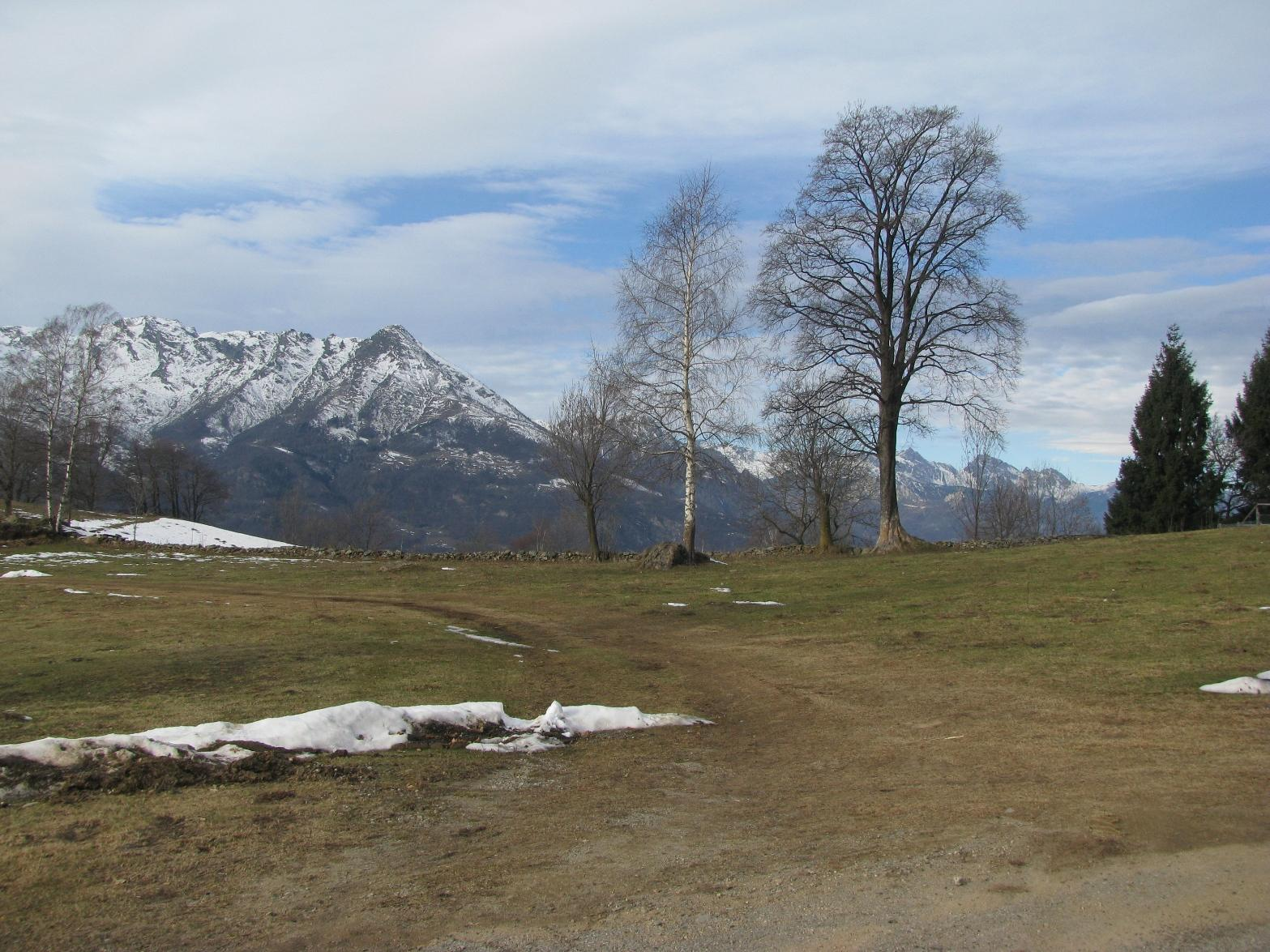 Panorama verso il Bec Renon