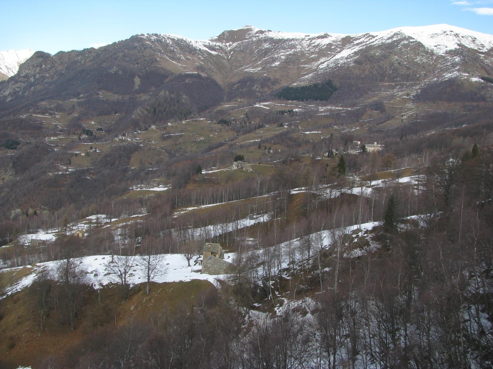 Vista sulla conca di Maletto-Trovinasse