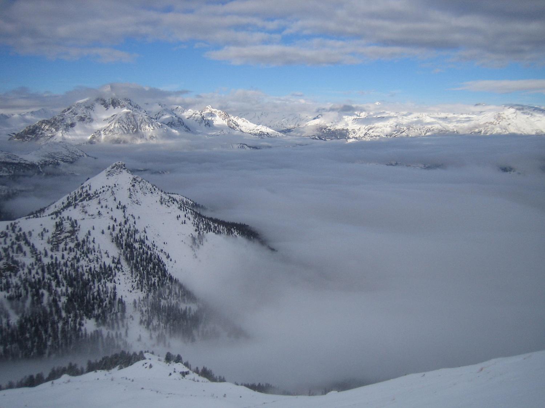nebbia sull'alta Valle di Susa