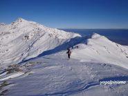 dal Monte Torretta la bellissima cresta in direzione del Mombarone