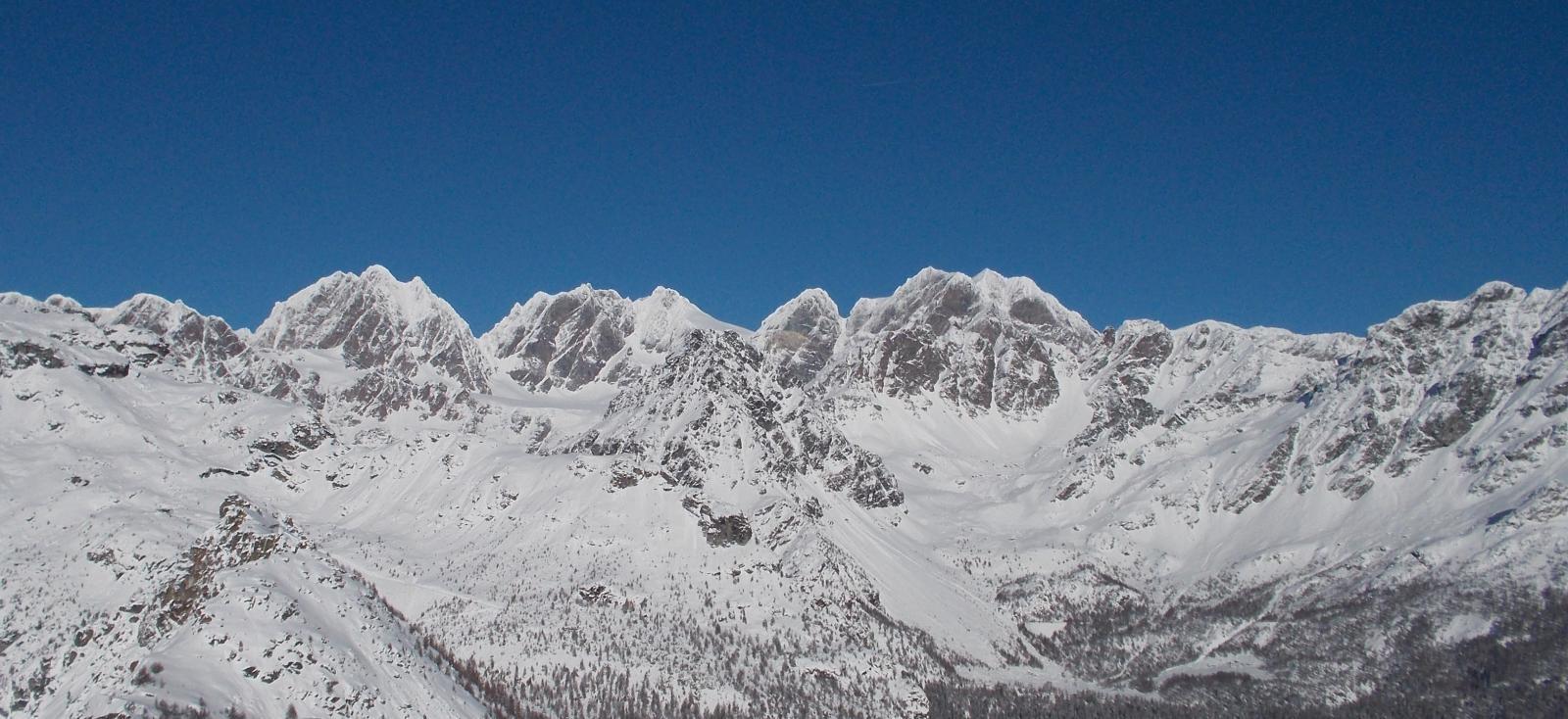 Gruppo del Bernina dal Monte Motta
