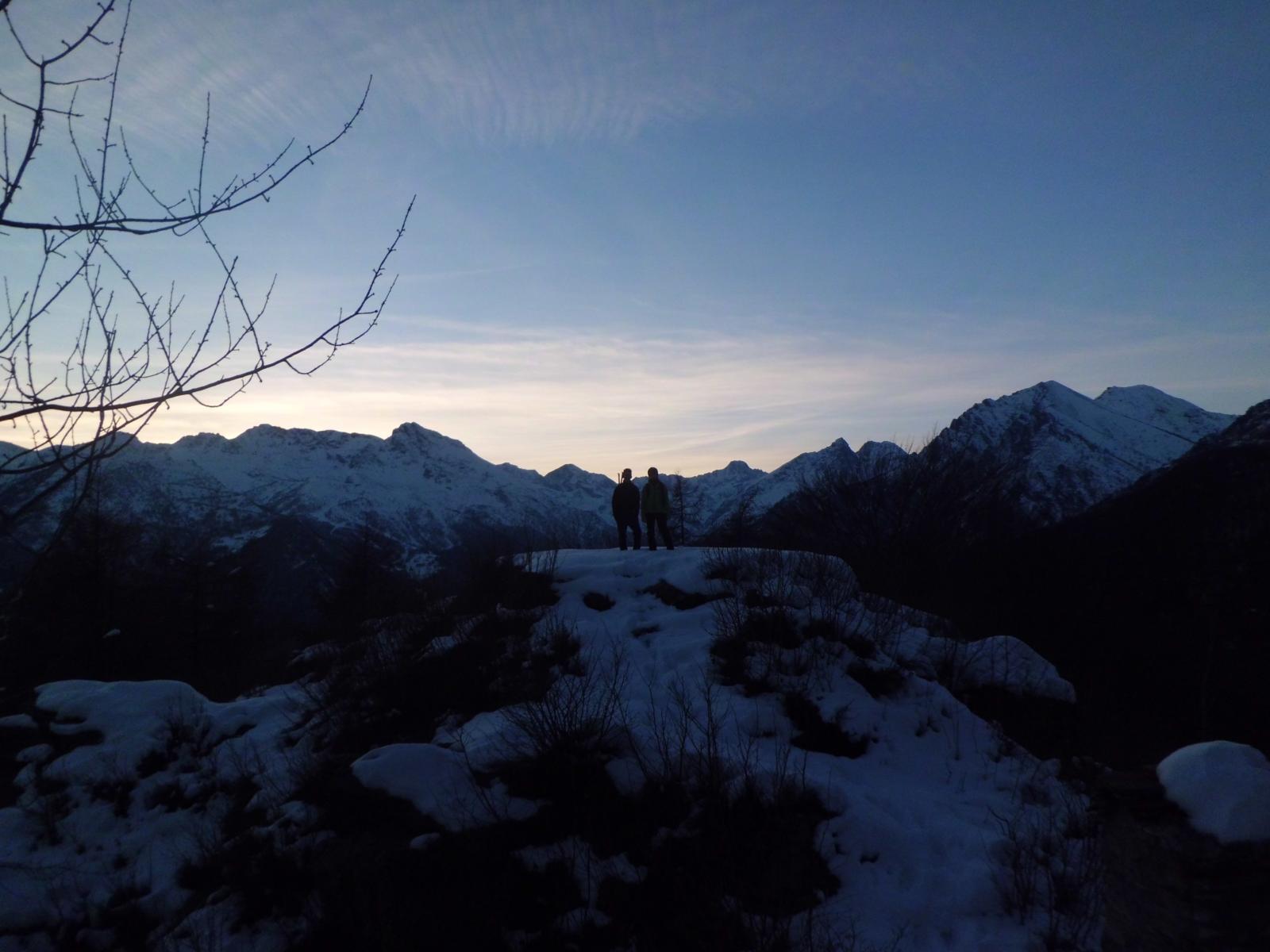 Edoardo e Simone al tramonto