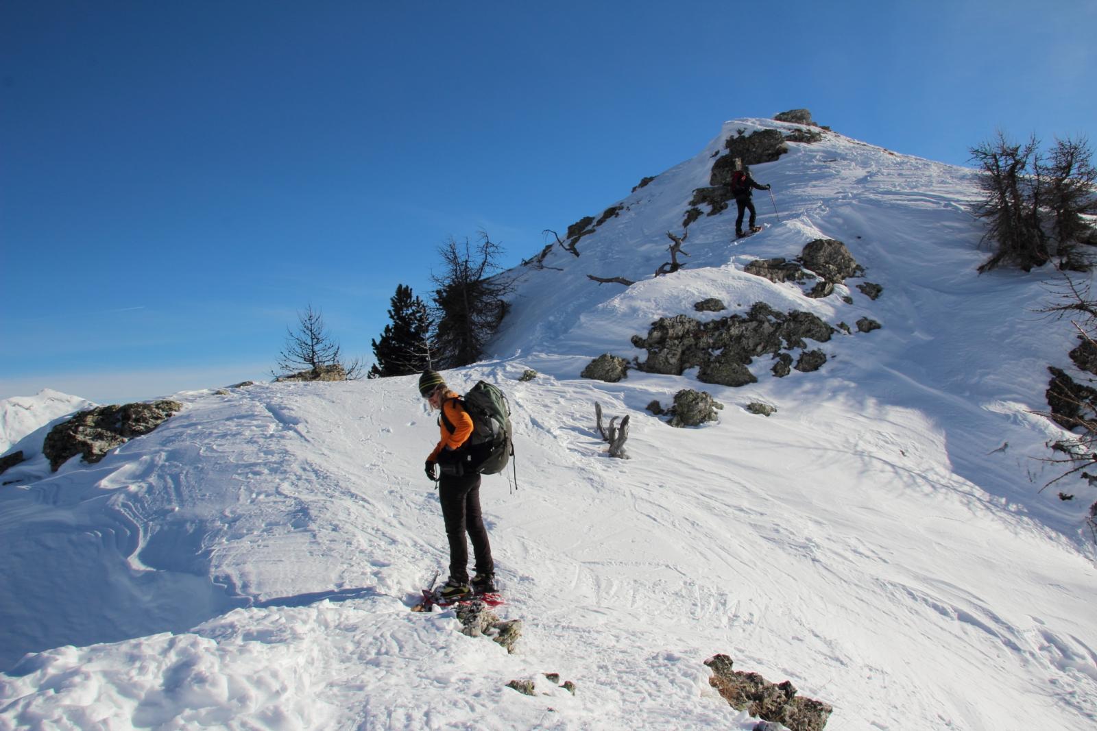 ultimi metri di cresta prima della vetta del Midia