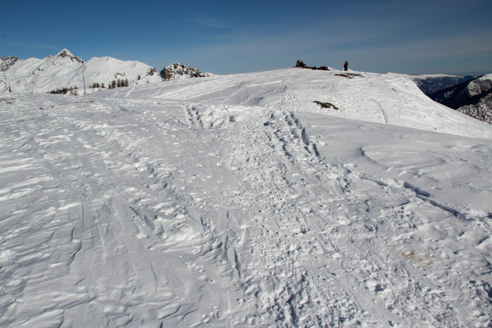 la vasta cima del Monte Estelletta