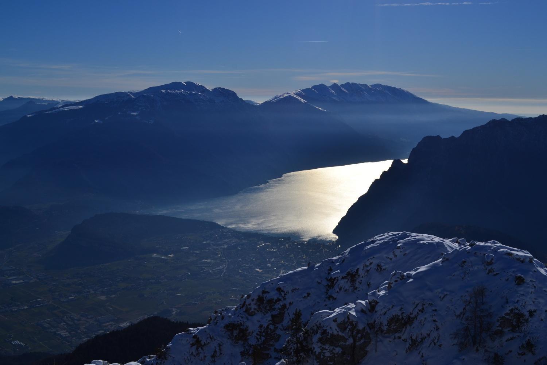 la testata del Lago di Garda vista dall'anticima