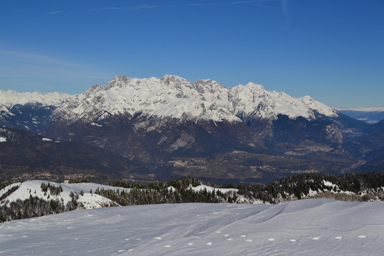 panorama verso le Dolomiti di Brenta