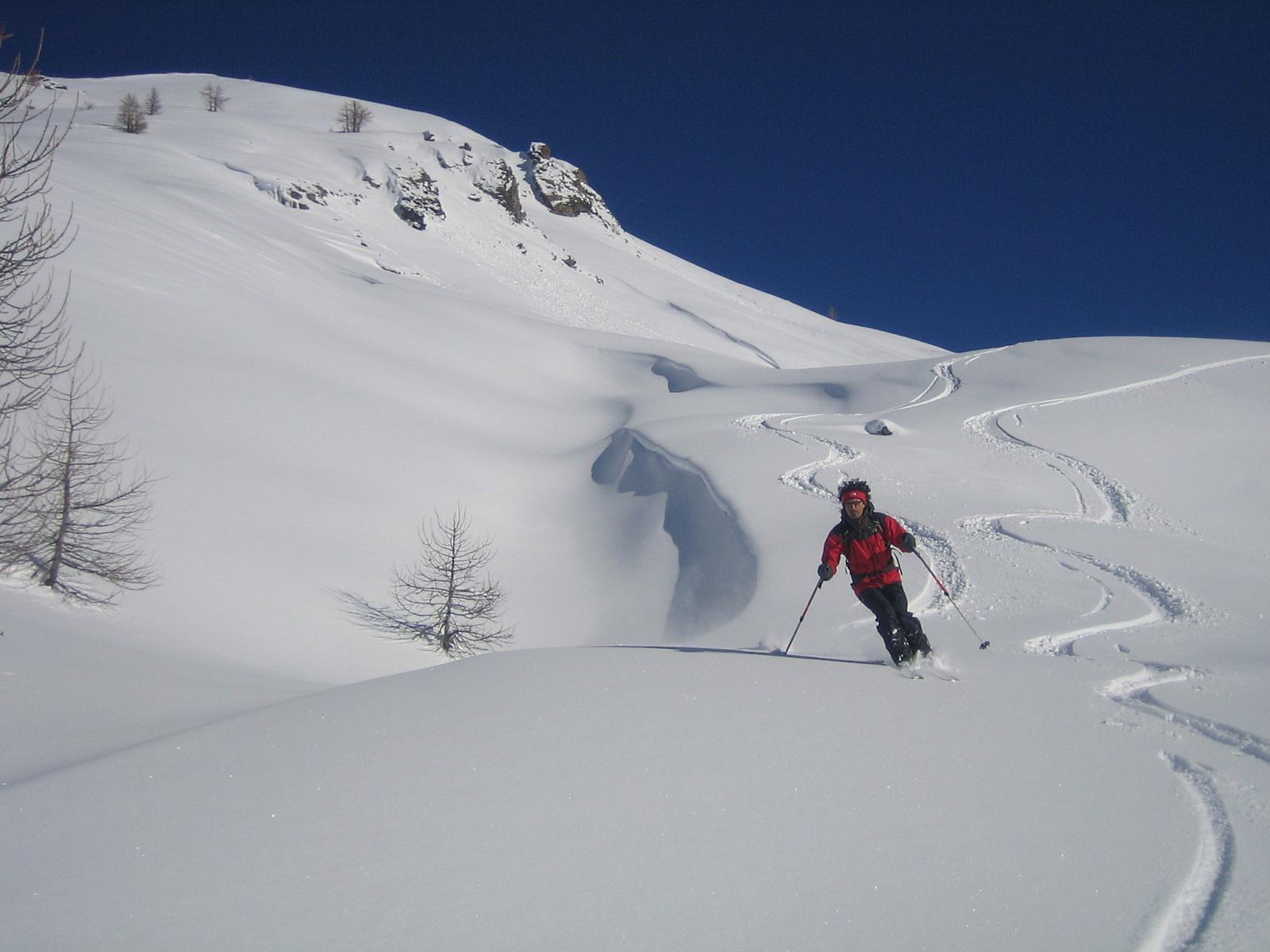 bella neve su tutto il percorso
