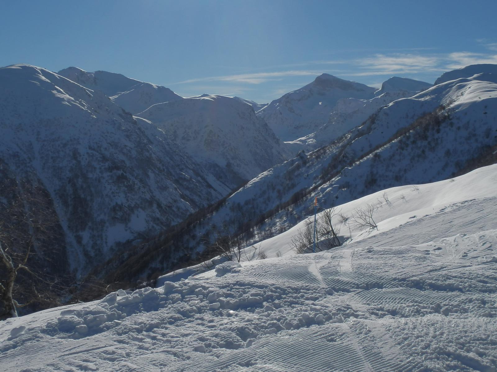 dal Pigna, vista sulla alta valle Ellero