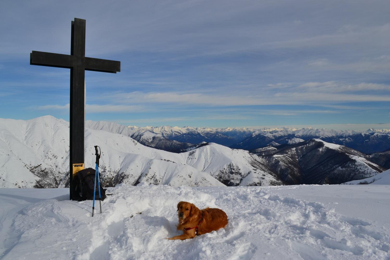 sulla vetta del Monte Todano (1667 m)