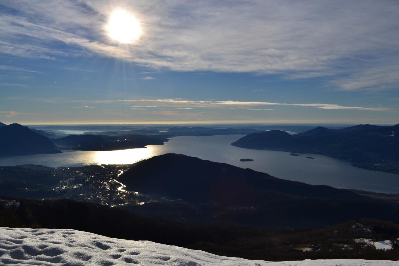 Lago Maggiore visto dalla vetta del Monte Todun (1298 m)