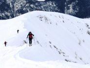 ultimo tratto con gli sci