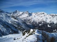 Panorama sull'alta Val d'Ala dalla vetta