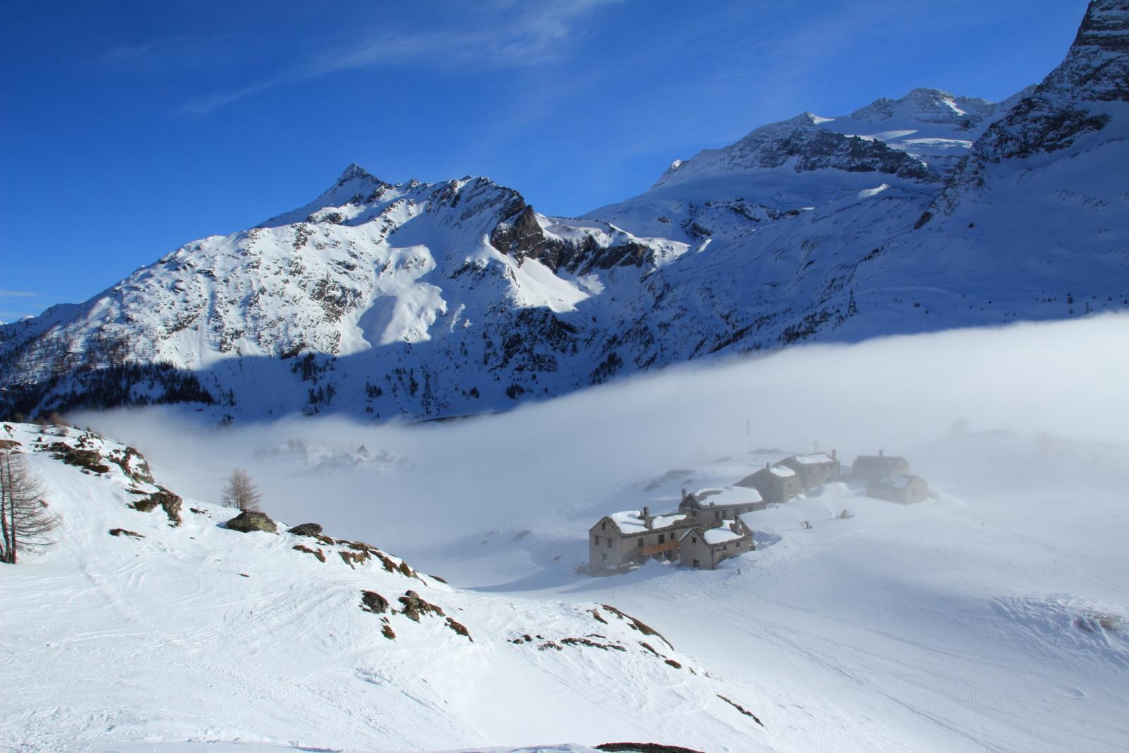 Hopsche, Wasenhorn e Gruppo del Monte Leone da quota 2150 m.