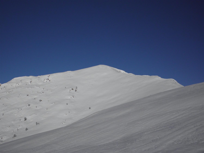 Il secondo tratto di cresta, per raggiungere la Colma