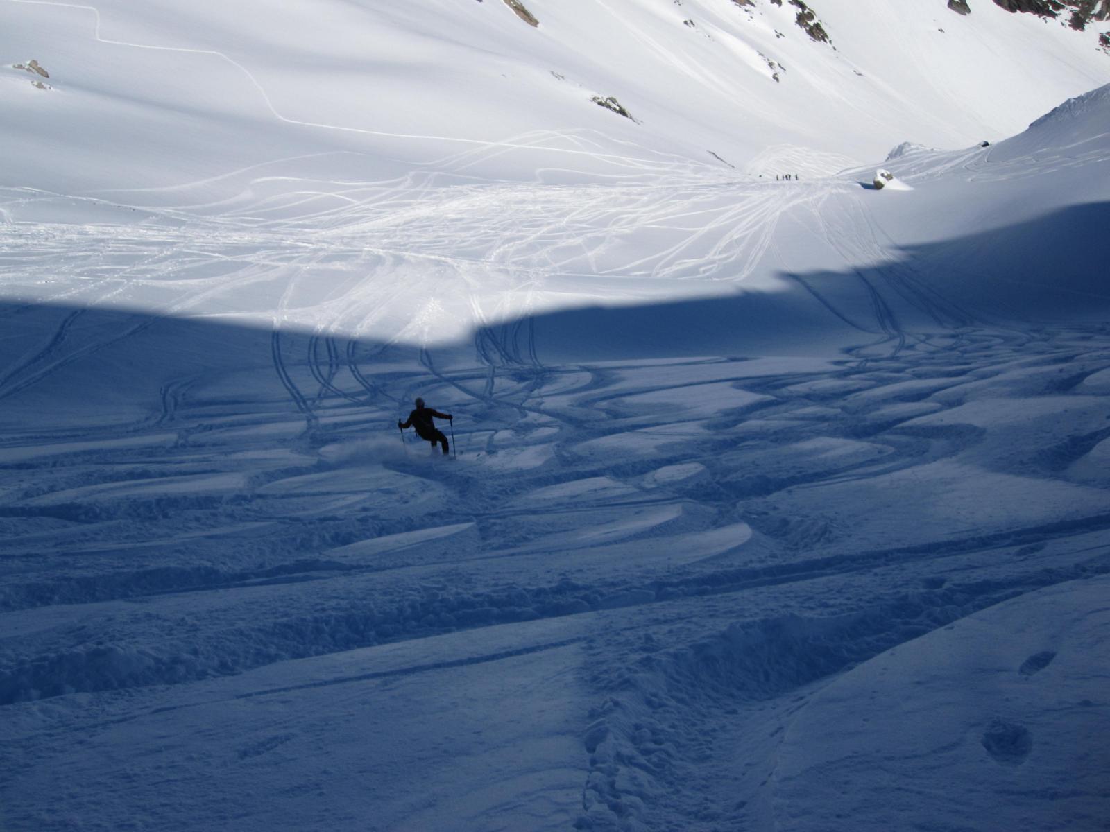contrasti in neve farinosa