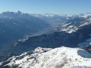 Valle centrale verso Aosta e M. Emilius
