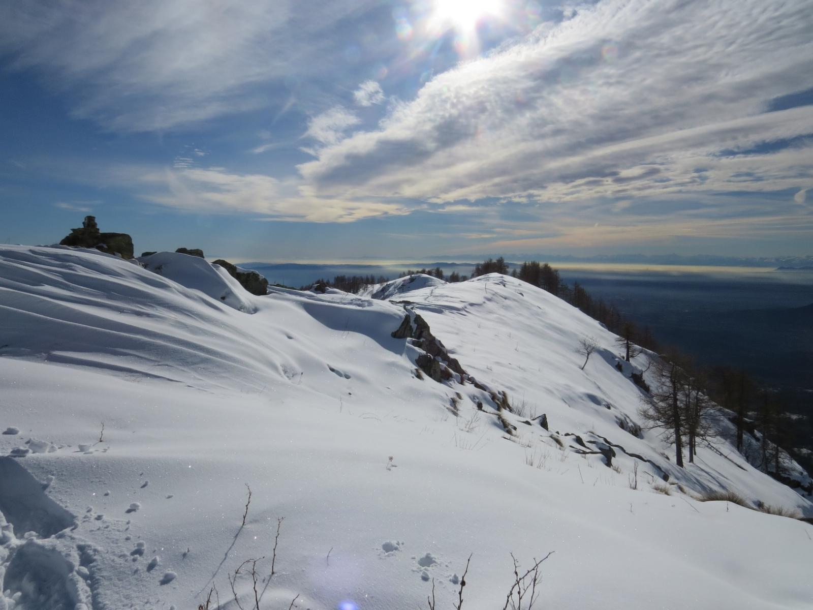 Panorama dalla vetta, verso sud
