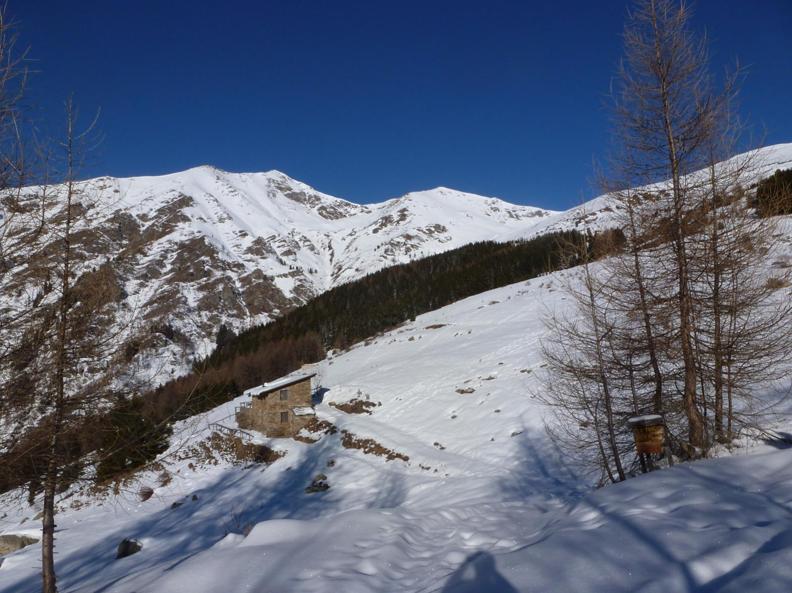 La baita del lupo a 1800m