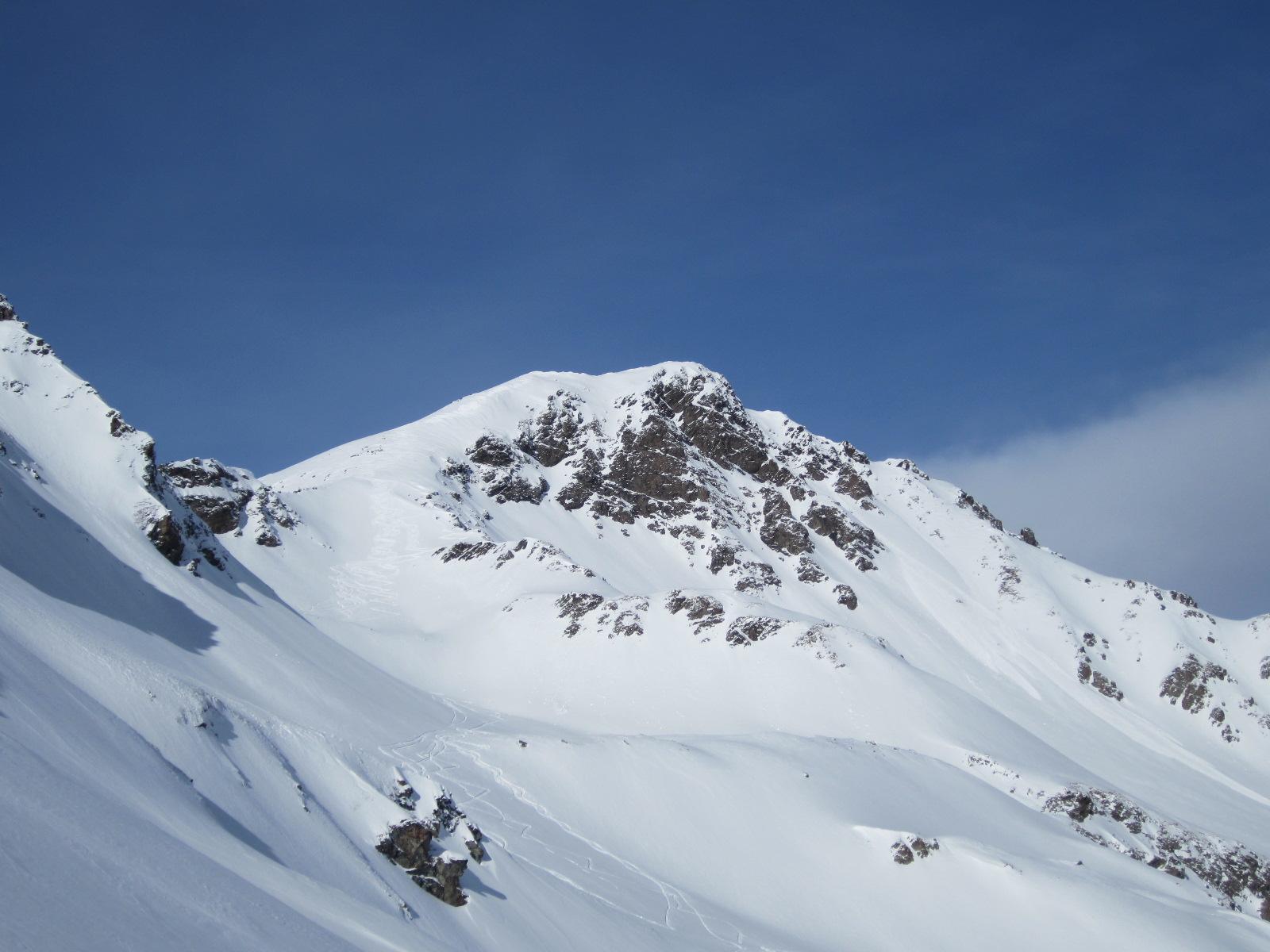 il monte Rosso con le ns. tracce