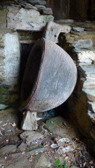 contenitore dove si pestavano le castagne per produrne farina