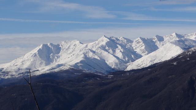 le vette della Val Chiusella viste dalla Serra Morena