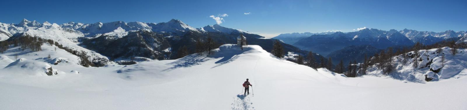 Ultimo tratto di neve intonsa