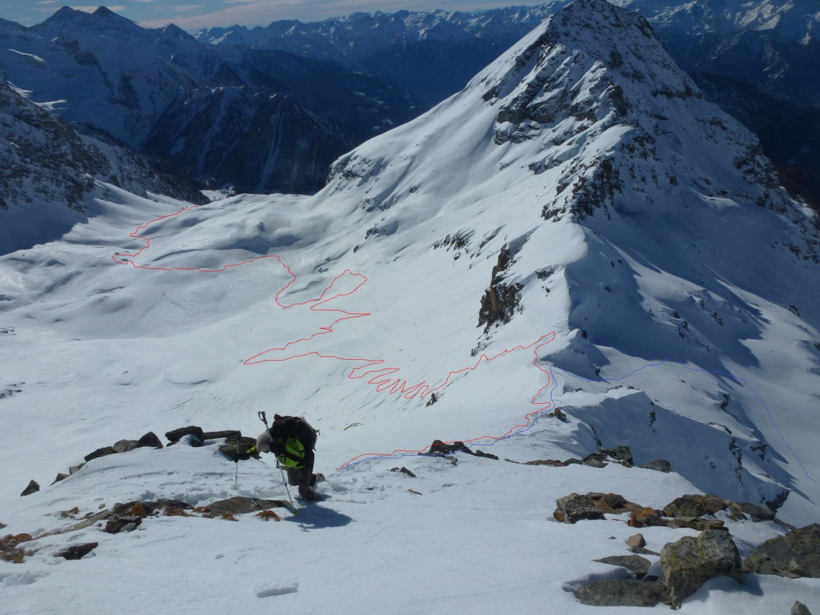 ultimi metri alla cima Valnera