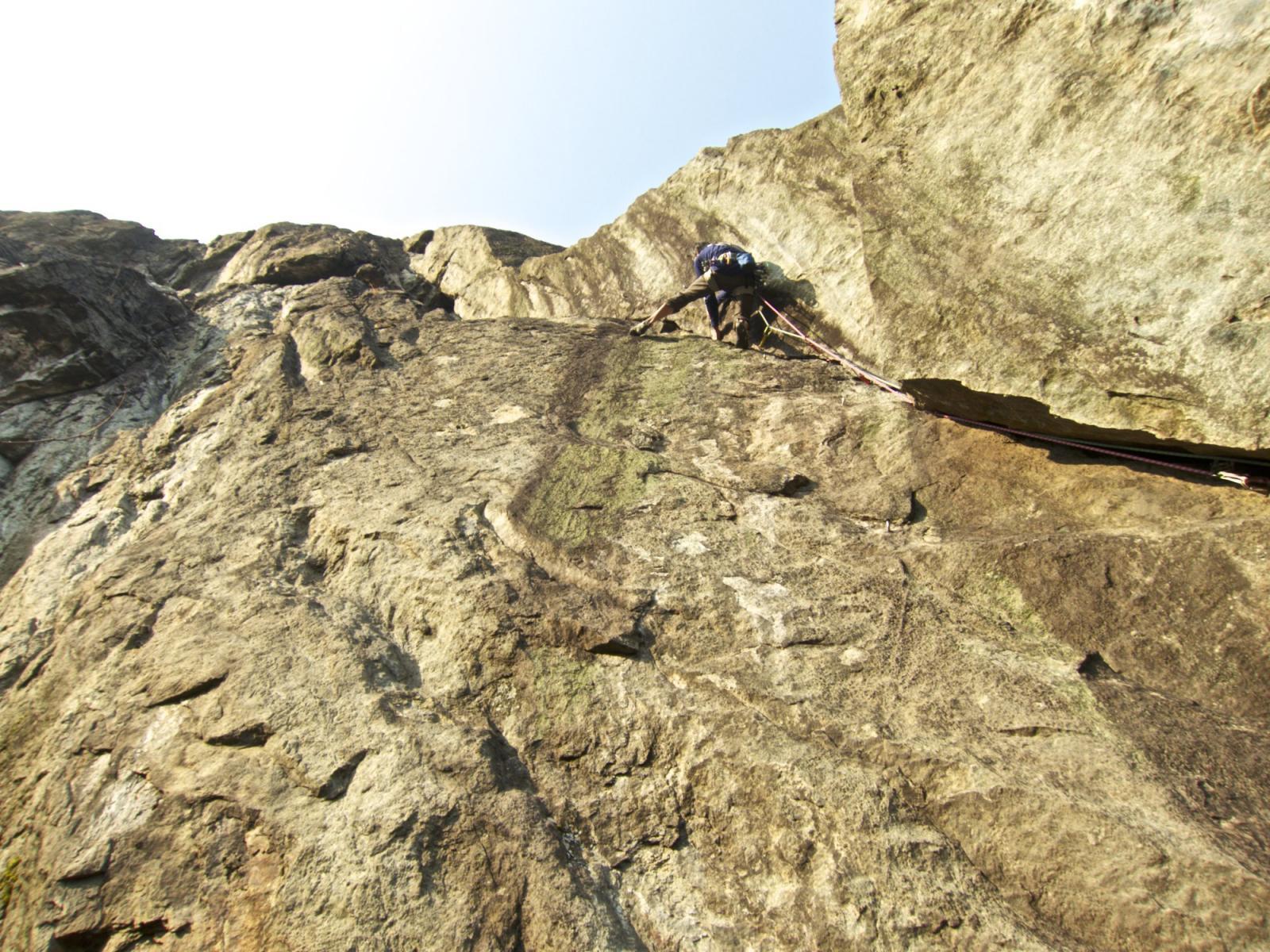 parte alta in dulfer di Arco del Ramarro
