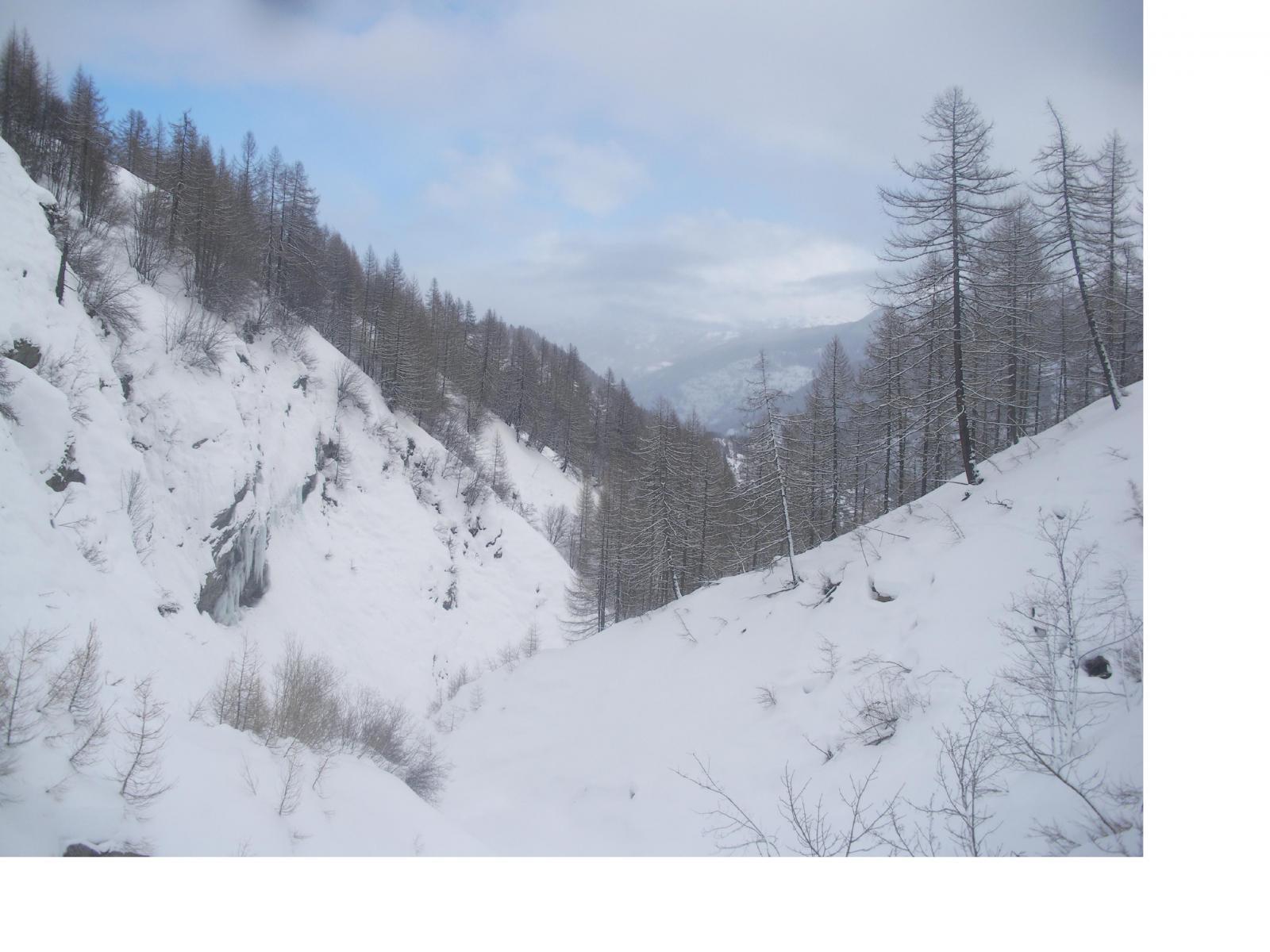Sisnieres (Monte) o Cresta Nera da Fenils per il vallonedel rio Fenils e la cresta Nord-Est 2014-01-31