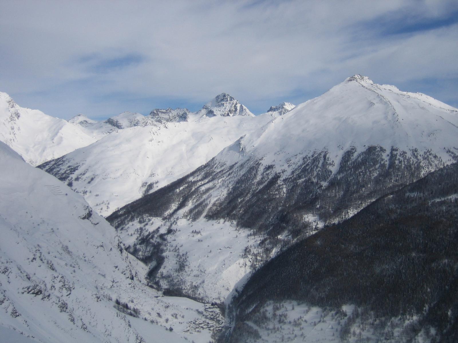 dalla cima: il vallone di Rochemolles e Tete Pierre Muret