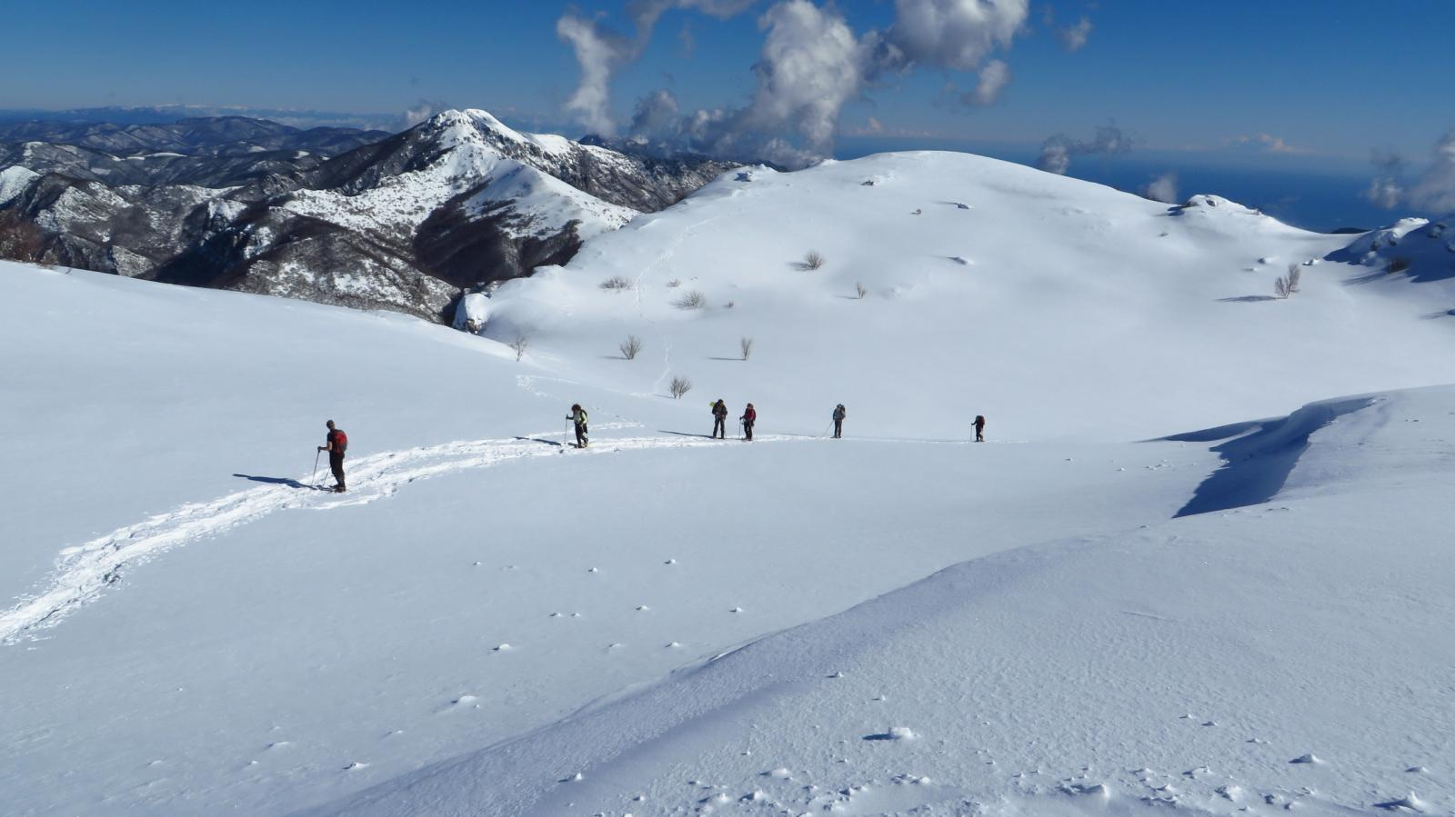 l'arrivo in vetta al Monte Armetta