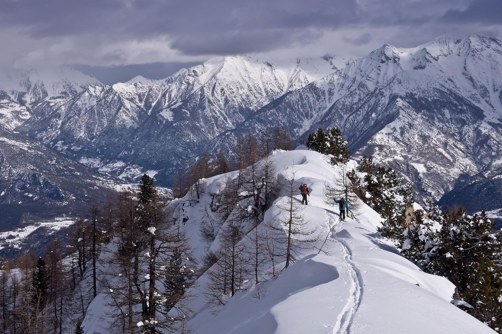 Piana (Cima) da Petit Mont Blanc, traversata a Gettaz 2014-02-09