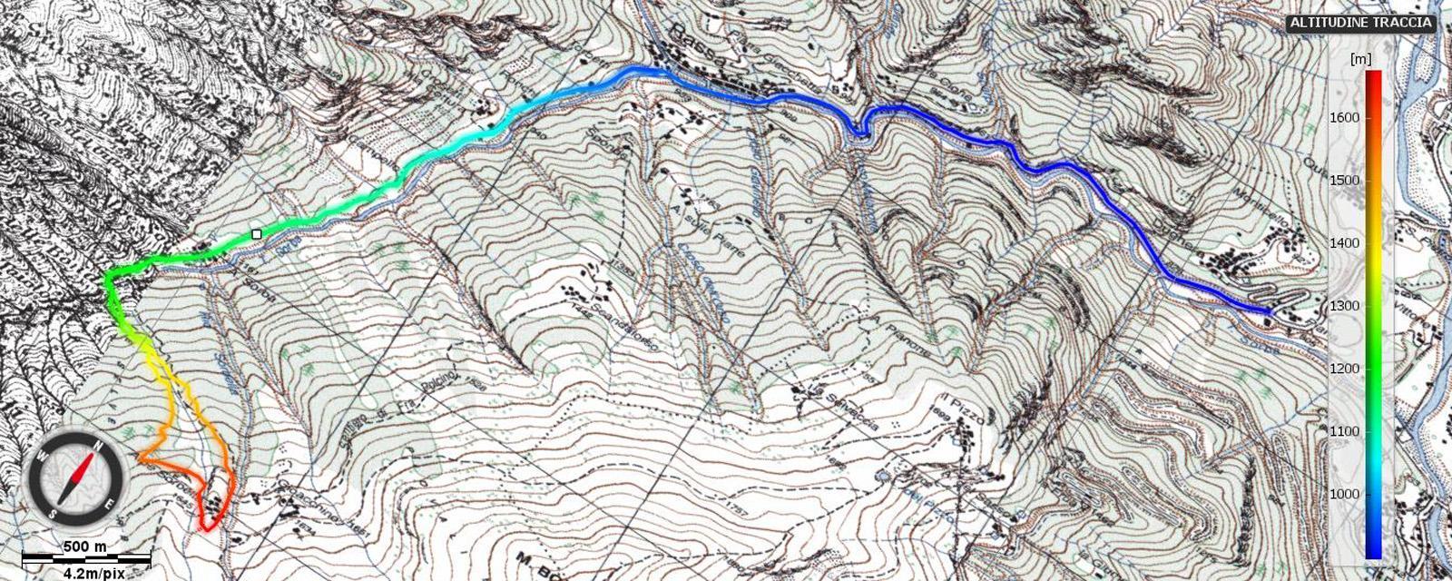 Itinerario fino all'alpe Sorbella