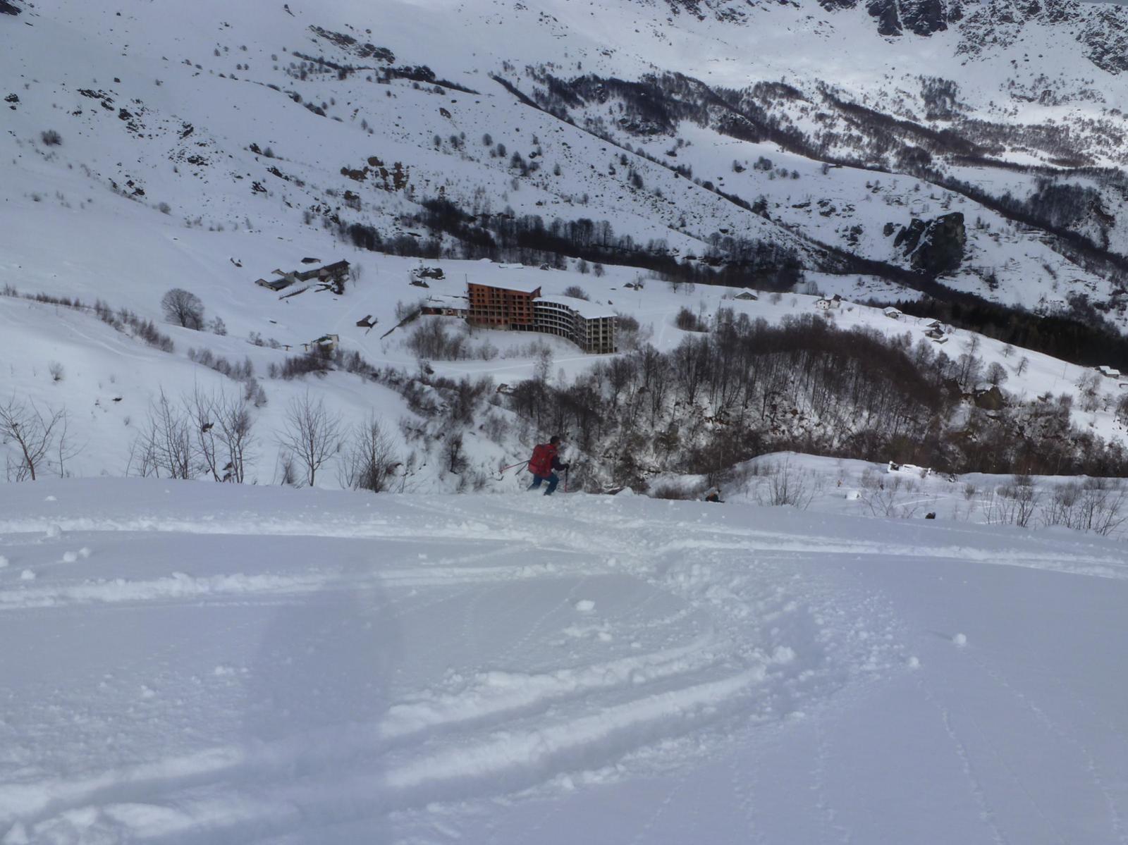 Discesa verso l'alpe Belvedere